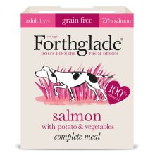 Forthglade Complete Grain free Adult Salmon & Veg, 18 x 395G