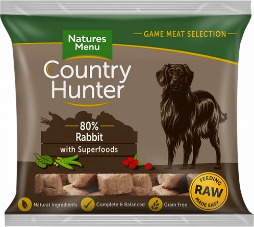 Country Hunter Frozen Nuggets Rabbit with Superfoods, 1KG