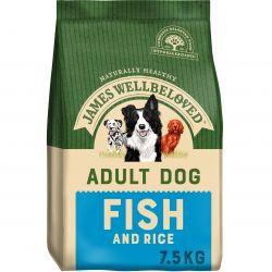 James Wellbeloved Dog Adult Fish & Rice, 7.5KG