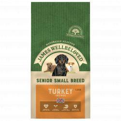 JAMES WELLBELOVED Turkey & Rice Senior Small Breed 1.5kg