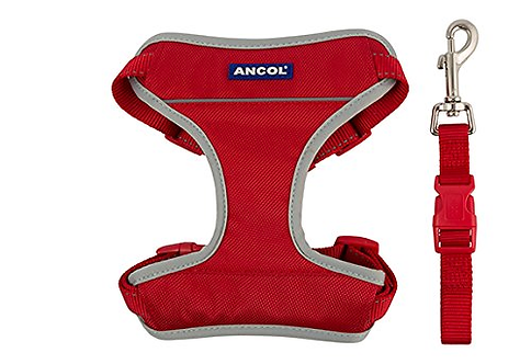 Ancol Travel Harness Red, MED 42-66CM
