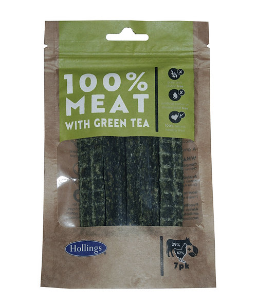 Hollings 100% Meat Bar with Green Tea, 7PK