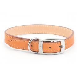Ancol Leather Collar Tan, 45-54CM SIZE 6