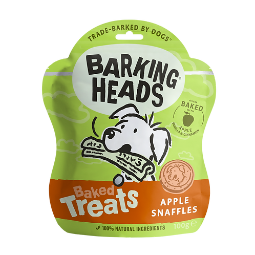 Barking Heads Apple Snaffles Baked Treats 100g