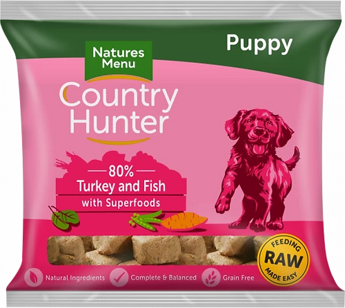 Country Hunter Frozen Puppy Nuggets Turkey & Fish with Superfoods, 1KG
