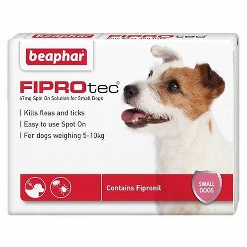 Beaphar FIPROtec Spot-On for Small Dogs 6 pipette, 6TMNT
