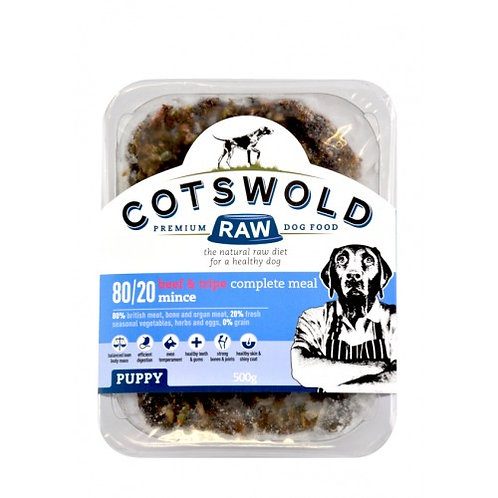 Cotswold Raw Puppy Beef & Tripe, 1KG