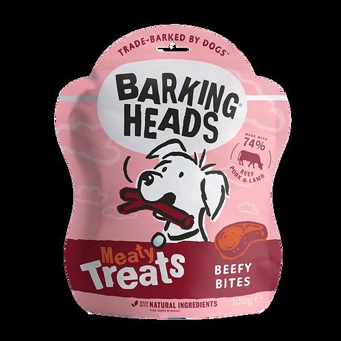 Barking Heads Meaty Treats Beefy Bites, 100G
