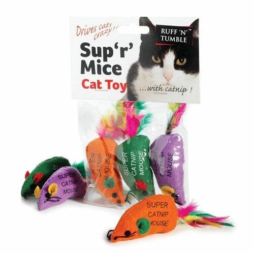 Ruff 'N' Tumble Sup 'R' Mice & Catnip, 3PCS