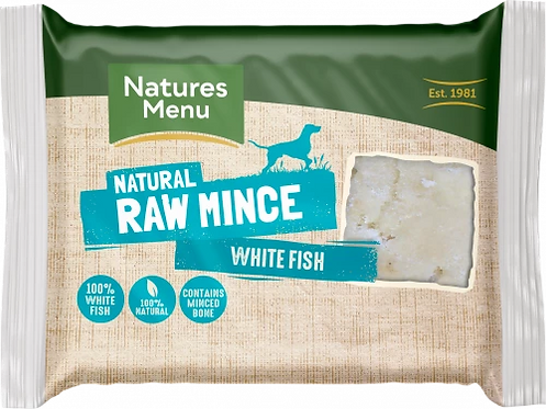 Natures Menu Just White Fish Mince, 400G