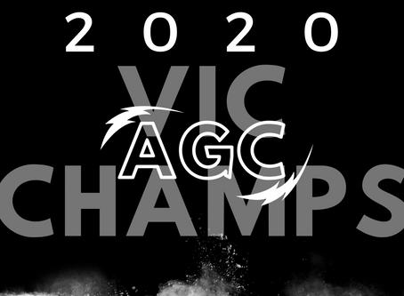 2020 AGC Vic Champs! Sep 12th