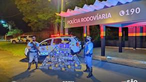 PMESP PRENDE TRAFICANTE QUE TRANSPORTAVA MAIS DE 500 TABLETES DE MACONHA