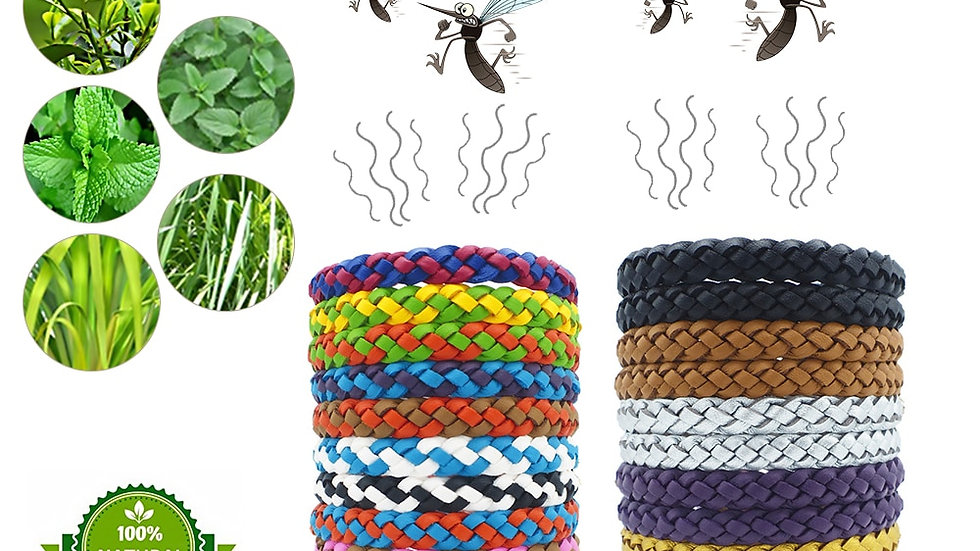 12 Pcs Eco Friendly Anti Mosquito Wristband