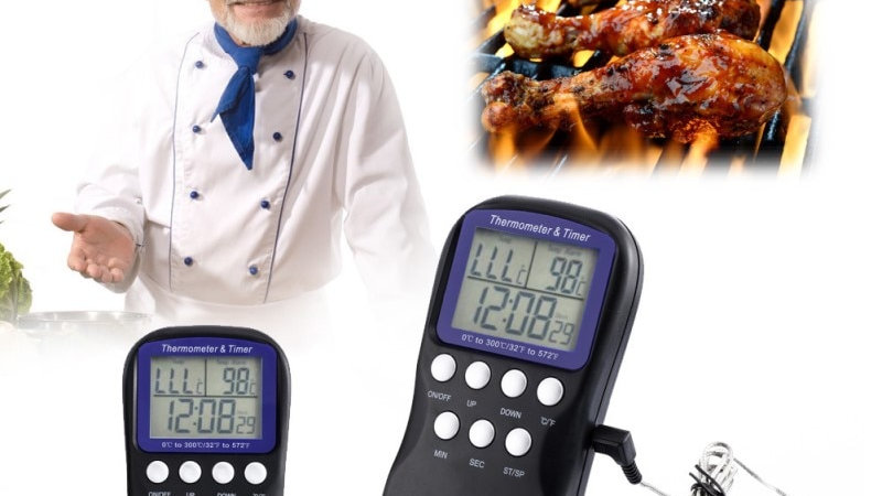Remote Wireless BBQ Thermometer