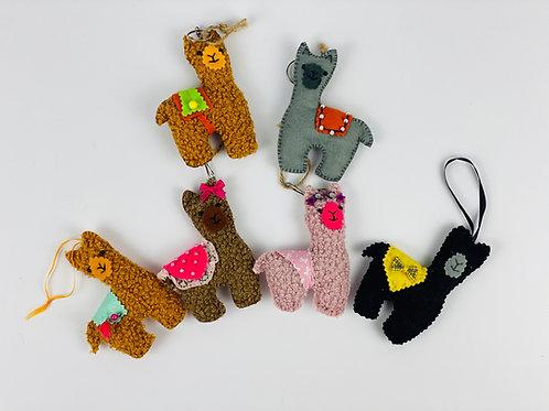 Felt Alpaca Decorations