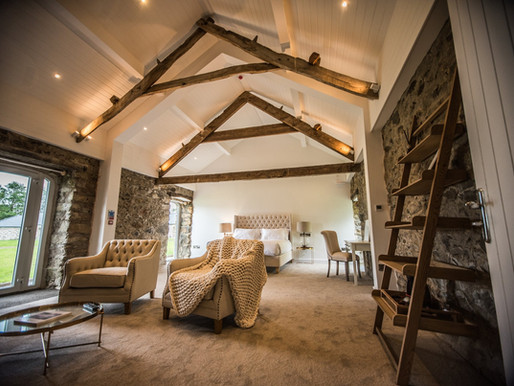 The renovation of the bedrooms at Henblas Country Park