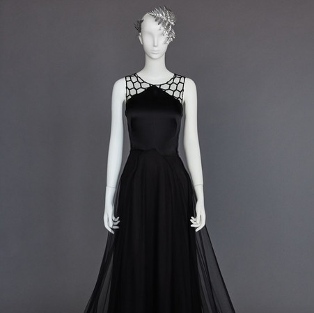 'black coral' color gown