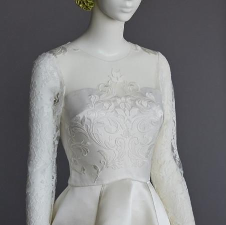 silk satin bridal couture