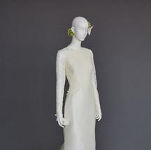lyon lace & solk taffeta bridao gown