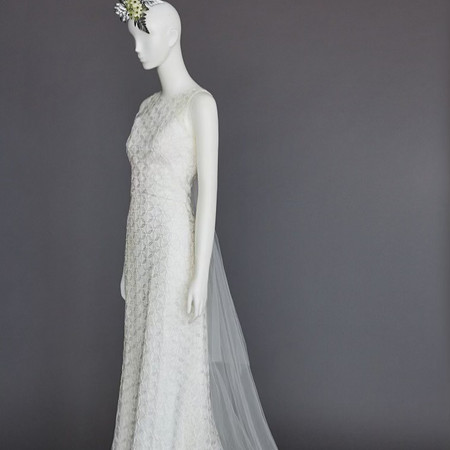 'flower of life' bridal gown