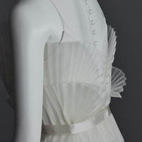 accordion bustier bridal gown