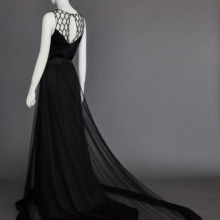 'black coral' color gown