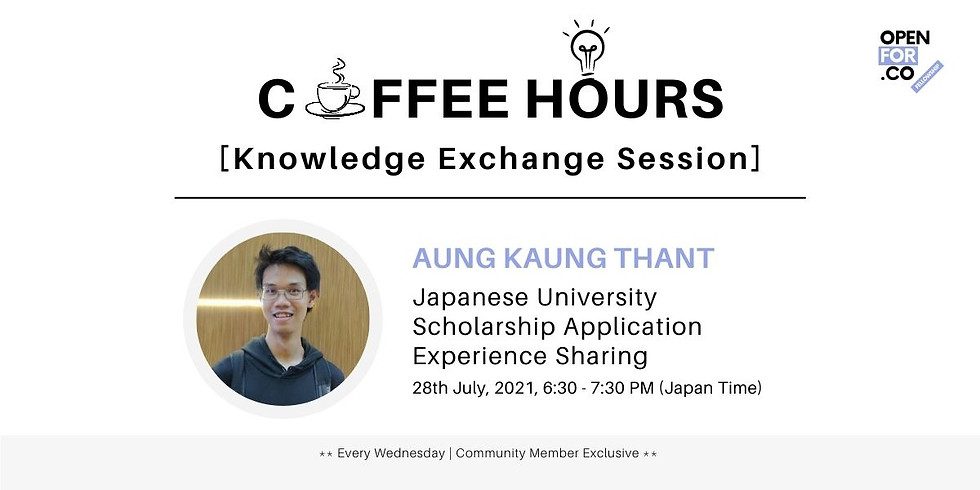 Japanese University Scholarship Application Experience by Aung Kaung Thant