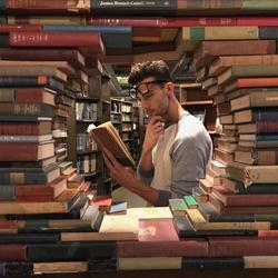 Travis in The Last Bookstore LA