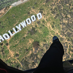 Flying Over The Hollywood Sign