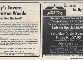1980 Restaurants to Remember