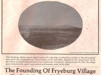 The Founding of Fryeburg Village
