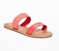 Mixed Fabric Sandals
