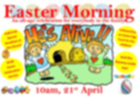 Easter Sunday Family Service Poster 2019