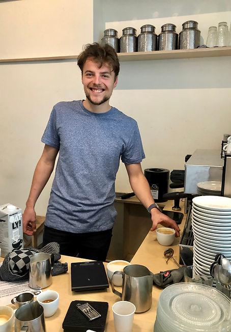 Jordy barista Koffiebar Namasté