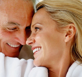 Couple with dental implants in South San Franciso