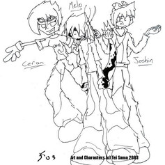 Origin Art: Raph, Mellow and Joe