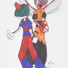 Origin Art: Allie and Cicero