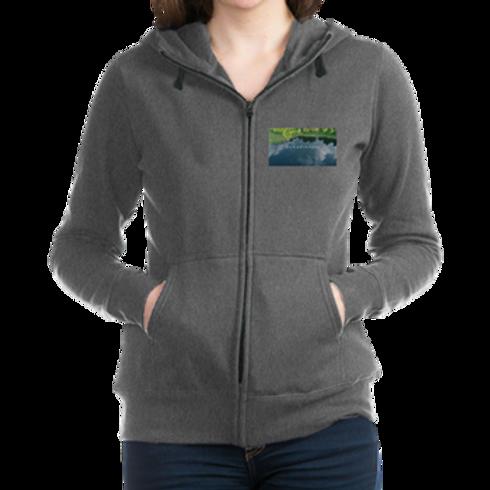 Ty Women's Zip-up Hoodie Sweatshirt