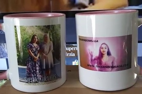 Supernaturalite Keepsake Mug Pink Interior & Handle