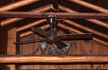 Open beams in lakeshore cabins 1 and 2.J
