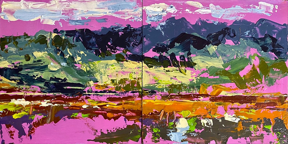Pink Plain (diptych)