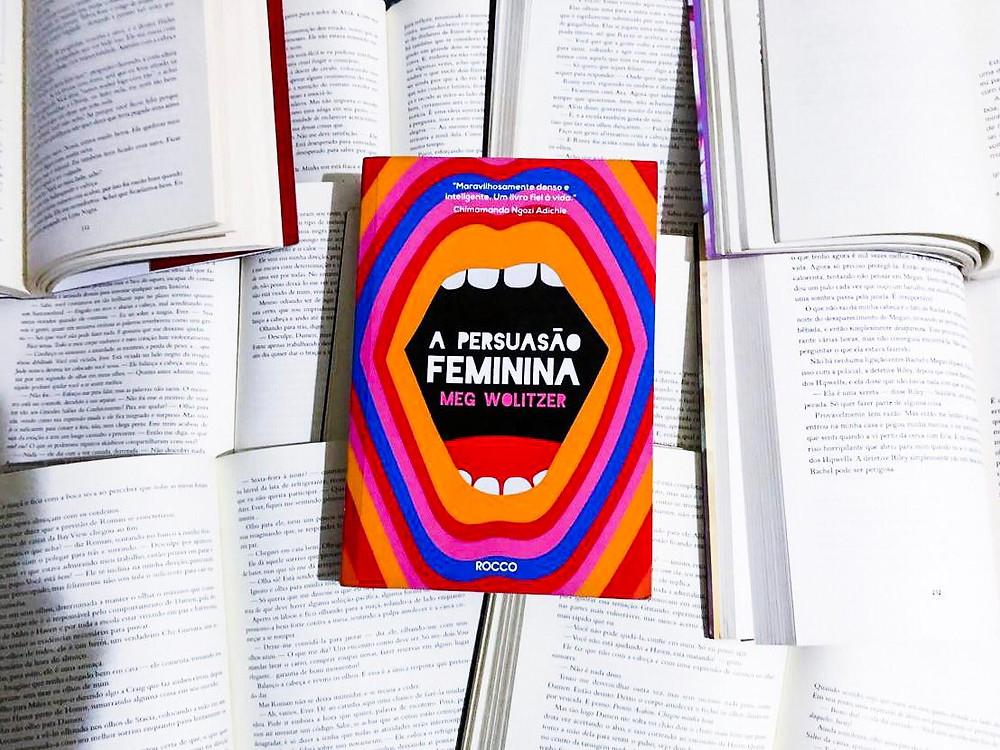 Livro A Persuasão Feminina, escrito por Meg Wolitzer. Publicado no Brasil pela editora Rocco.