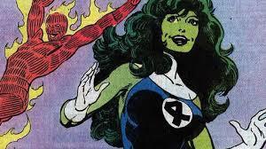 she hulk e tocha humana do quarteto fantastico