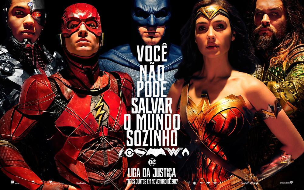 poster do filme liga da justiça