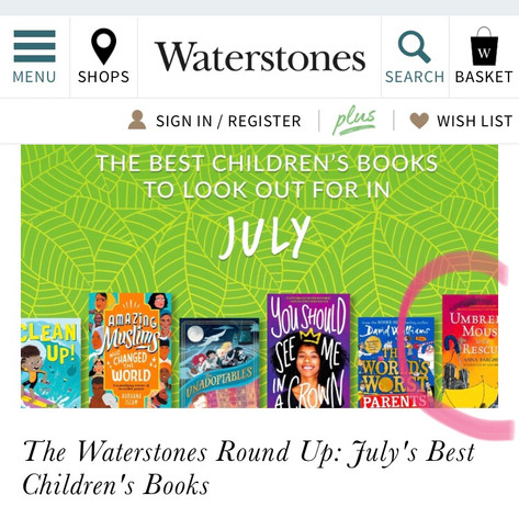 Waterstones Best Books for July 2020