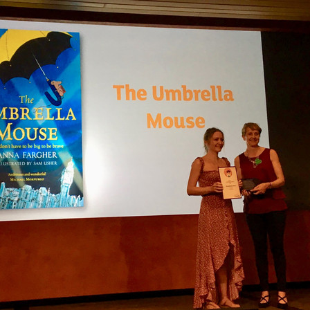 THE UMBRELLA MOUSE wins Sainsbury's Children's Book Awards, Fiction Category 2019