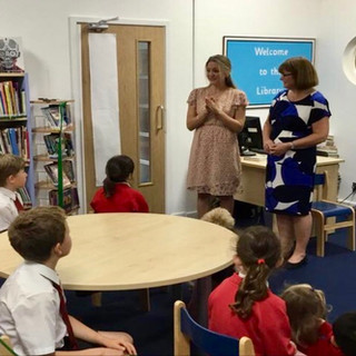 Anna opens a new school library