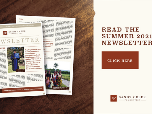 Summer 2021 Sandy Creek Foundation Newsletter