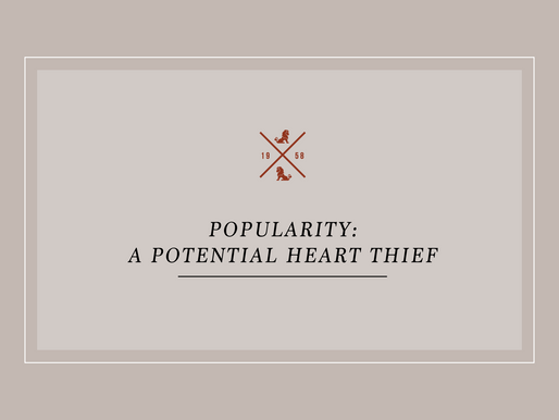 Popularity: A Potential Heart Thief