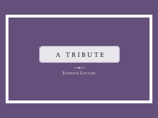 A Tribute: Florence Littauer